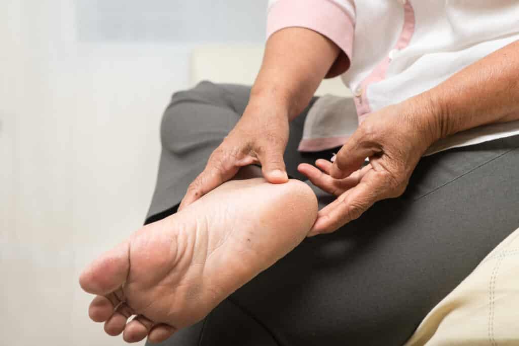 heel pad pain